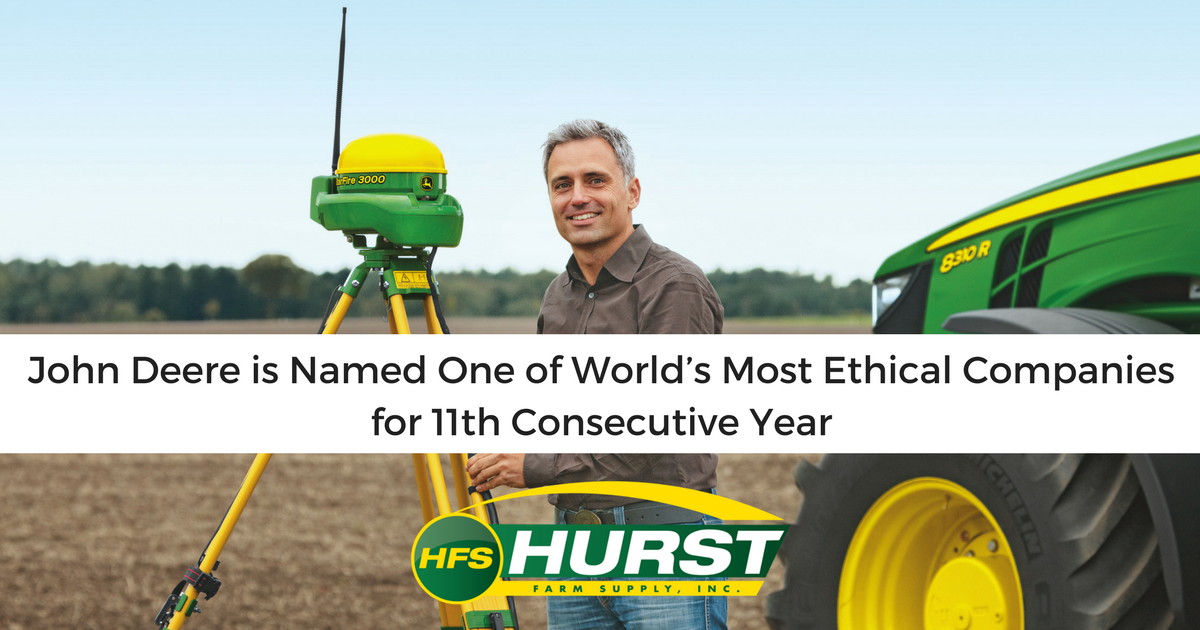 John Deere is Named One of World's Most Ethical Companies for 11th Consecutive Year