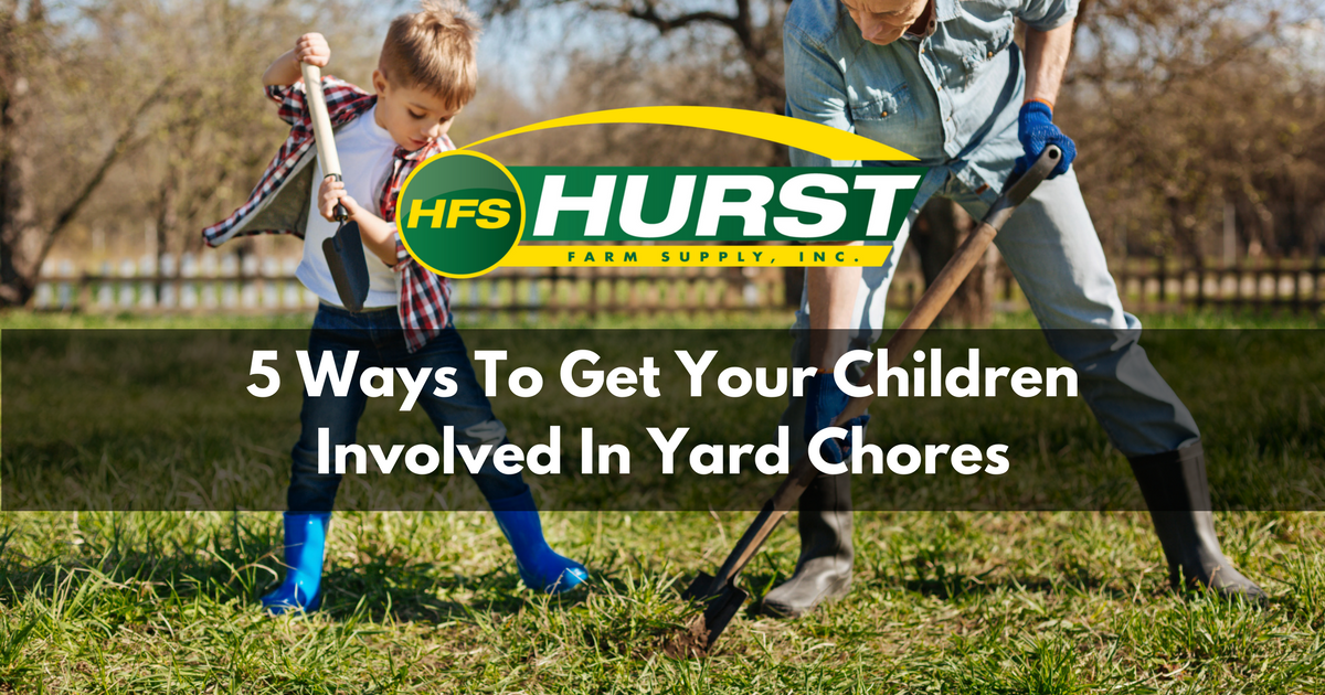 5 Ways to Get Your Children Involved in Yard Chores