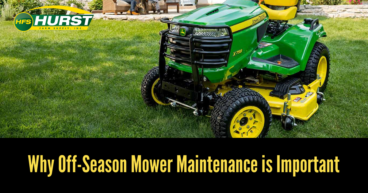 Why Off-Season Mower Maintenance is Important