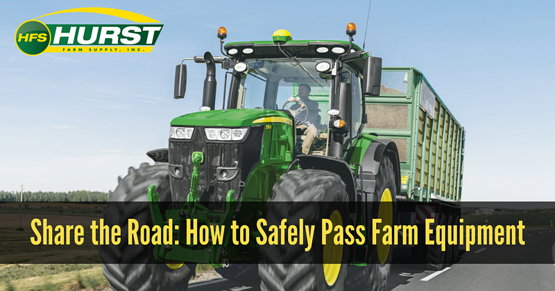 Share The Road- How To Safely Pass Farm Equipment