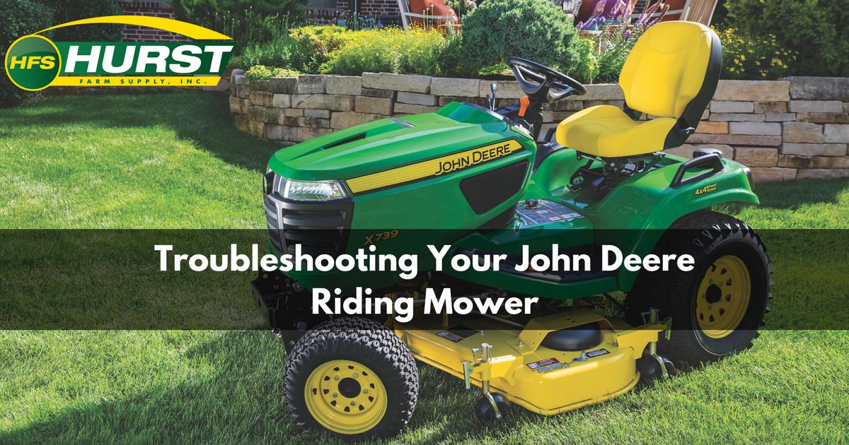 Troubleshooting Your John Deere Riding Mower